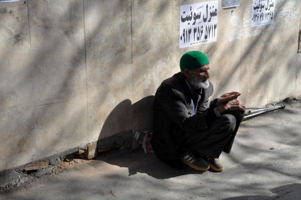 Bettler in Yazd