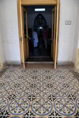 Bodenfliesen in der Bibliothek von Bahawalpur