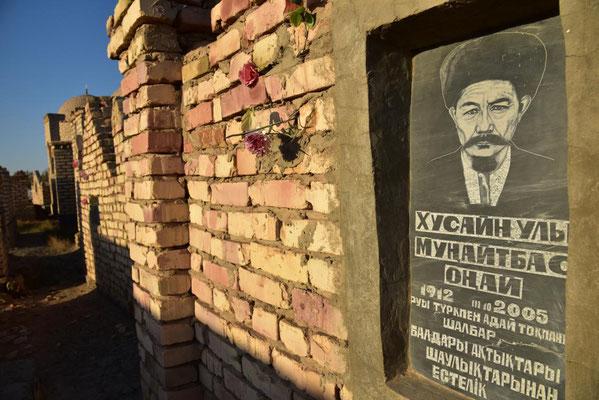 usbekischer Grabstein (liegt hier Dschingis Khan?)