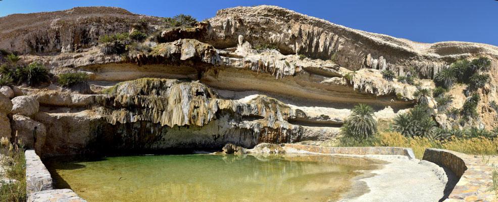 der Pool im Wadi