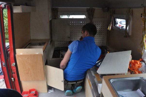 Einbau der Möbel