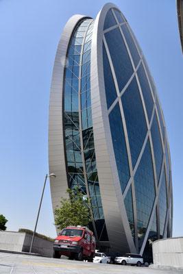Diskusscheibe als Kongresszentrum in Abu Dhabi