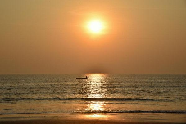erst der Sonnenuntergang...