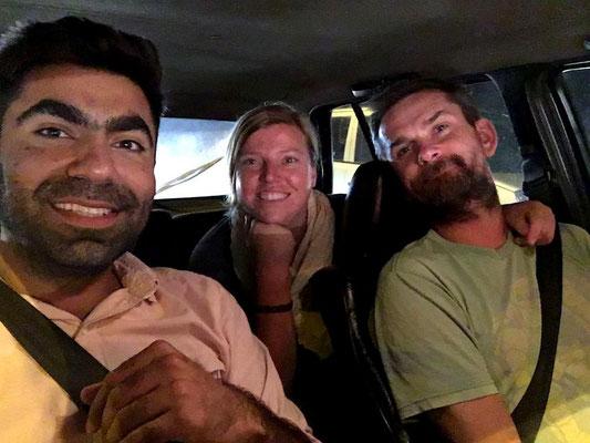 mit Ali cruisen wir durch Islamabad (in seinem 2er Golf)