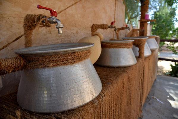 Waschbecken im 1001 Nights Camp