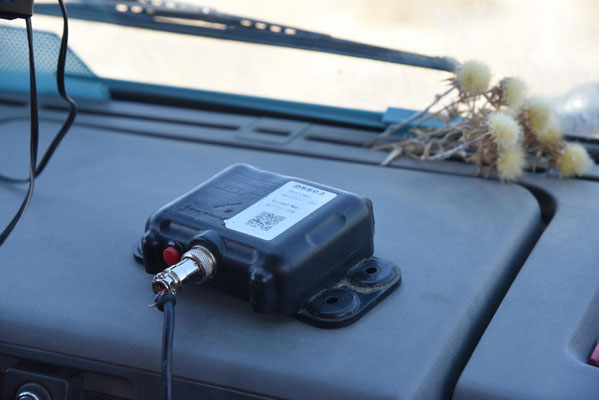 der GPS-Sender / Wanze