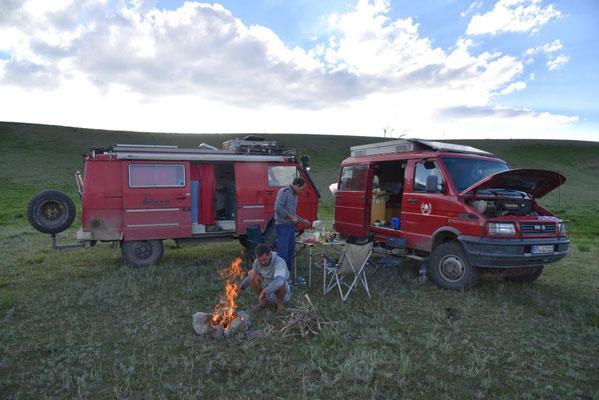 Feuer für die Grillglut