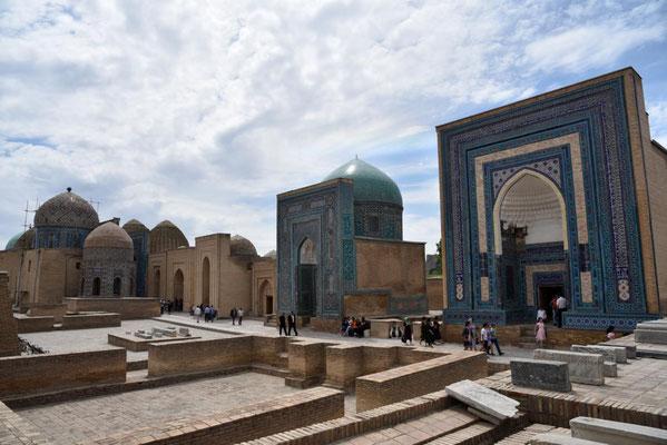 Mausoleen in Samarkand (still und heimlich von hinten rein geschlichen - Eintritt gespart...)