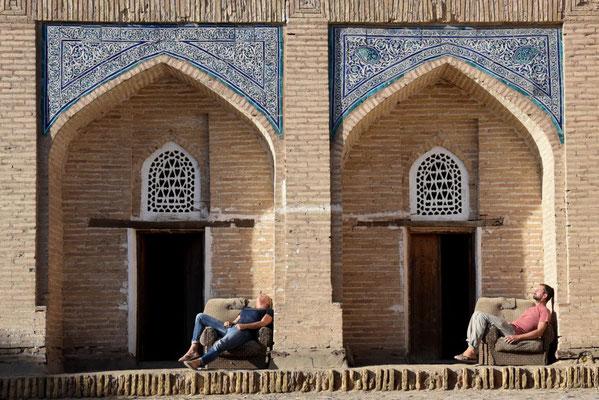 eine Pause in der Sonne in Khiva