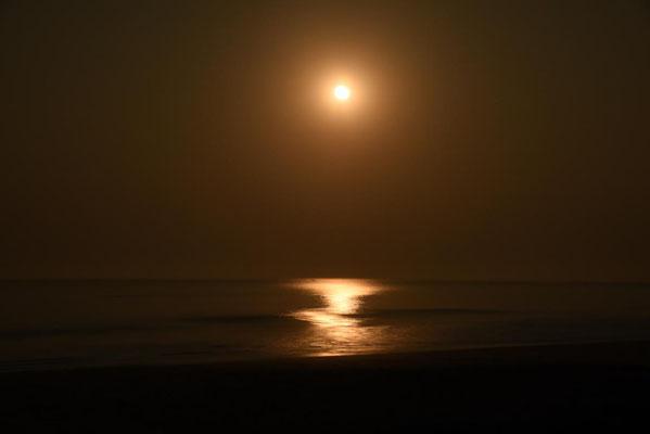 ...und morgens um 6 Uhr der Monduntergang