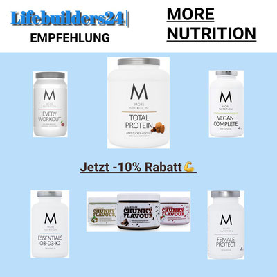 MORE NUTRITION 10% Rabatt