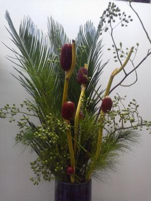 秋をイメージした花瓶