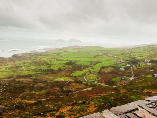 Aussicht auf die Küste von Irland