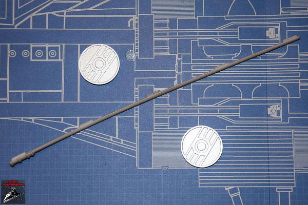 Bau Deinen X-Wing Ausgabe 38 Detail für Hinterkante und Energiekupplungen (Kunststoff)