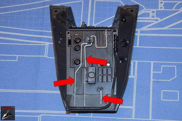 DeAgostini Bau deinen X-Wing Ausgabe 63 Die Verbindungen werden an der Instrumentenkosole befestigt