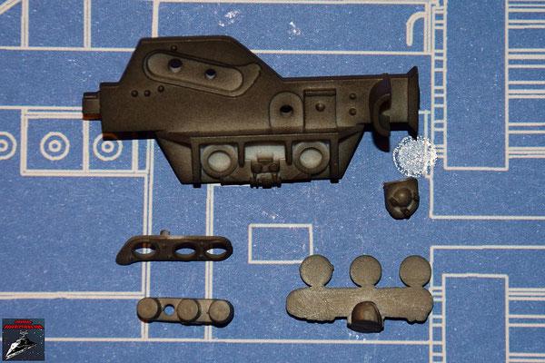 DeAgostini Bau deinen X-Wing Ausgabe 30 Kantenverstärkung, Anbaudetails und Stopfen (Kunststoff)