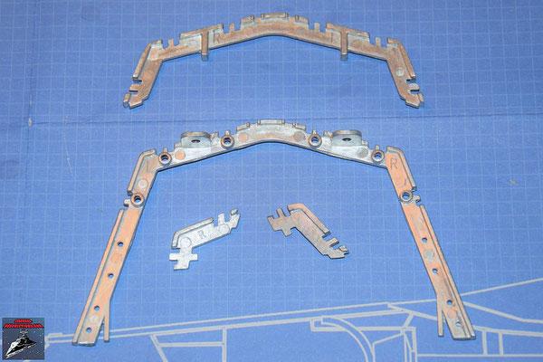 DeAgostini Bau deinen X-Wing Ausgabe 71 Hinterrahmen unten und Mitten und Seitenrahmen links und rechts (Metall)