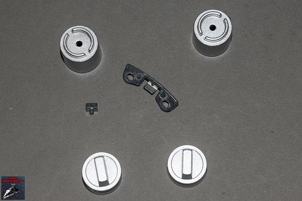 Build your own R2-D2 Anbaudetails für das rechte Bein (Metall)