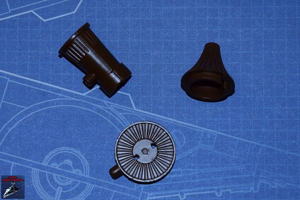 DeAgostini Bau deinen X-Wing Ausgabe 12 Alluvialdämpfer, Turbogenerator und Turbogenerator-Abdeckung