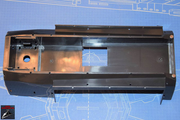 DeAgostini Bau deinen X-Wing Ausgabe 77 Obere Halterung des hinteren Rumpfs (Kunststoff)