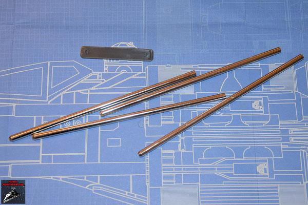 DeAgostini Bau deinen X-Wing Ausgabe 69 Flügeldrehstangen und Endstrebe