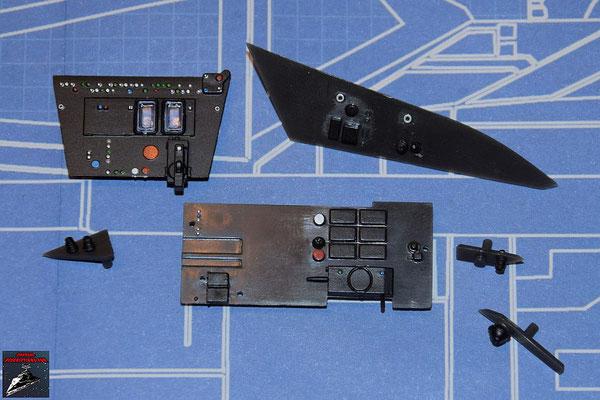 DeAgostini Bau deinen X-Wing Ausgabe 62 Die Details werden an den Instrumententafeln befestigt.