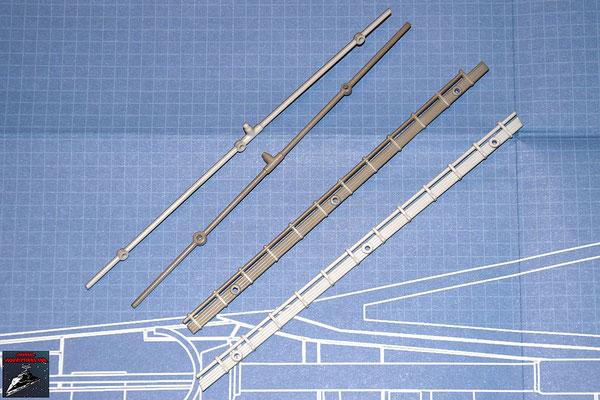 DeAgostini Bau deinen X-Wing Ausgabe  8 Kabel und Rohre für den oberen Steuerbordflügel (Kunststoff)