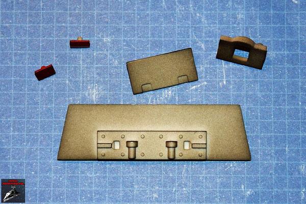 Bau Deinen X-Wing Ausgabe 38 Laserkanonenstütze und Oberflächendetails (Kunststoff)