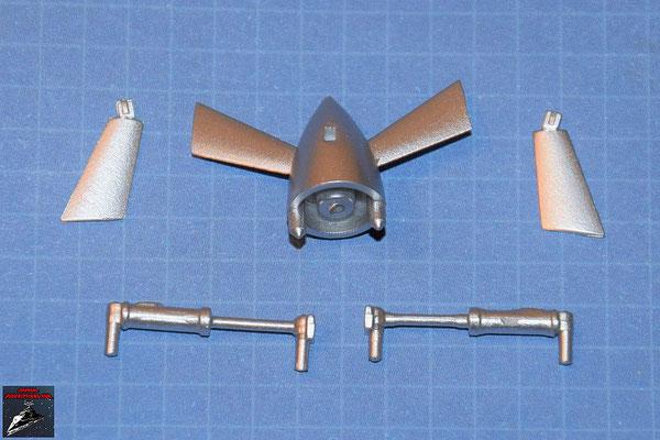 DeAgostini Bau deinen X-Wing Ausgabe 56 Turboimpeller mit zwei Flügeln und Hydraulikregulierer (Kunststoff)