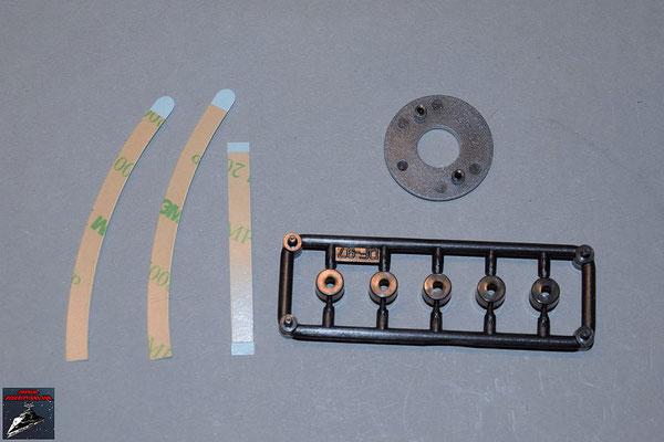 Build your own R2-D2 Ausgabe 63 Klebestreifen, Kuppelspitzen-Ring und sechs Verbindungsstücke