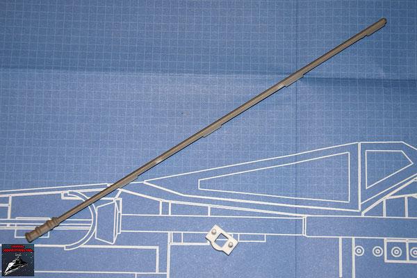 DeAgostini Bau deinen X-Wing Ausgabe 7 Detail Hinterkante und Halterung Laserkanone (beides Kunststoff)