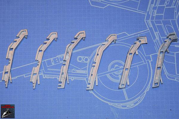 DeAgostini Bau deinen X-Wing Ausgabe 80 3 Paare Rumpfrahmenhälften aus Metall