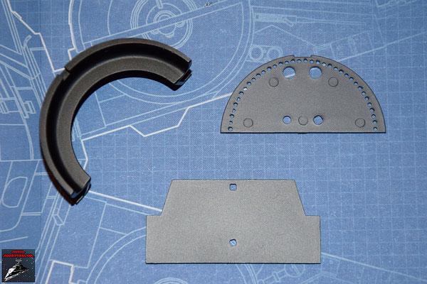 DeAgostini Bau deinen X-Wing Ausgabe 11 Schubdüse, horizontale Schaufel und untere Abdeckplatte