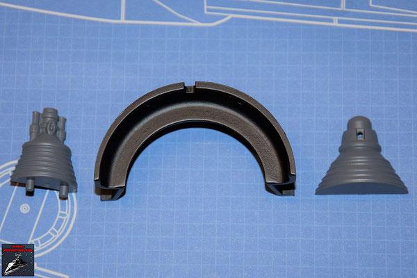 DeAgostini Bau deinen X-Wing Ausgabe 54 Schubdüse und beide Hälften Gyroskop (Kunststoff)