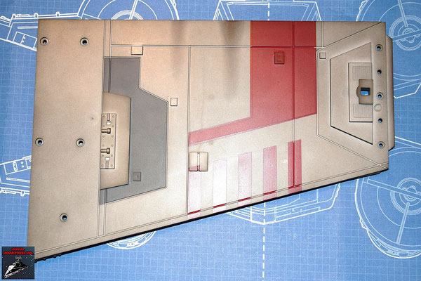 DeAgostini Bau deinen X-Wing Ausgabe 21 Die Details werden an der äußeren Kante des unteren Backbordflügels befestigt