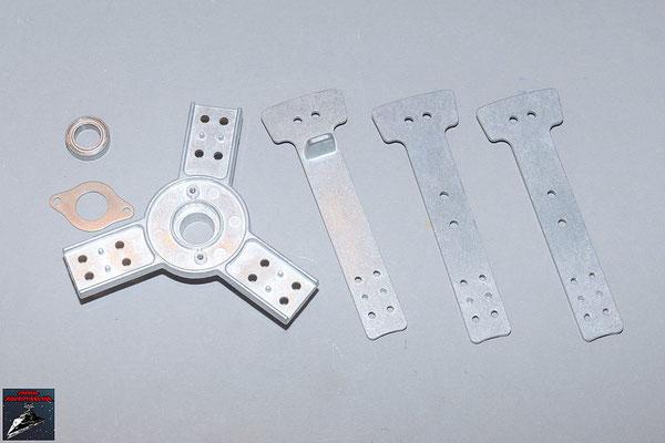 Build your own R2-D2 Ausgabe 87 Teile des Rumpfrahmens und Verbindungsstücke (Metall)