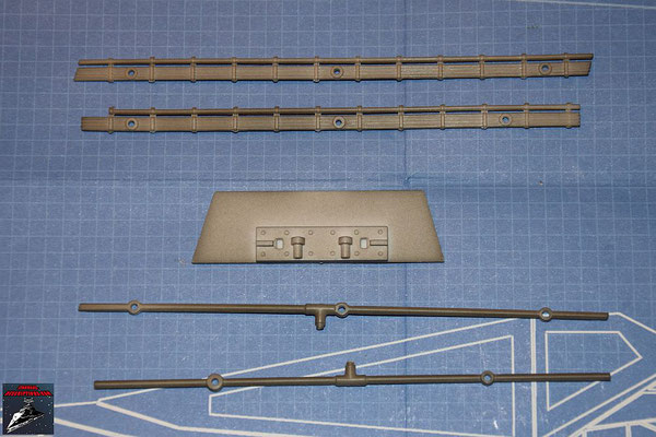 Bau Deinen X-Wing Ausgabe 39 Rohr Kabel Hinter- und Vorderkante, Verstrebung Flügelwurzel und Vorder- und Hinterkante (Kunststoff)