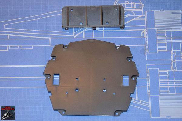 DeAgostini Bau deinen X-Wing Ausgabe 65 Hintere Cockpit-Trennwand und horizontale Verstärkung (Kunststoff)