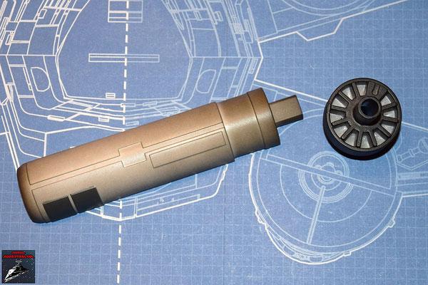 DeAgostini Bau deinen X-Wing Ausgabe 20 Oberes Laserkanonengehäuse und vordere Kanonenabdeckung (Kunststoff)