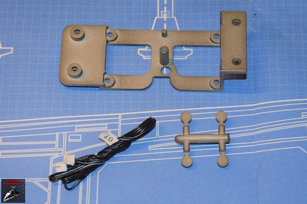 DeAgostini Bau deinen X-Wing Ausgabe 58 Verstrebung (Metall), Kabel für Laserkanone und Stopfen (Kunststoff)