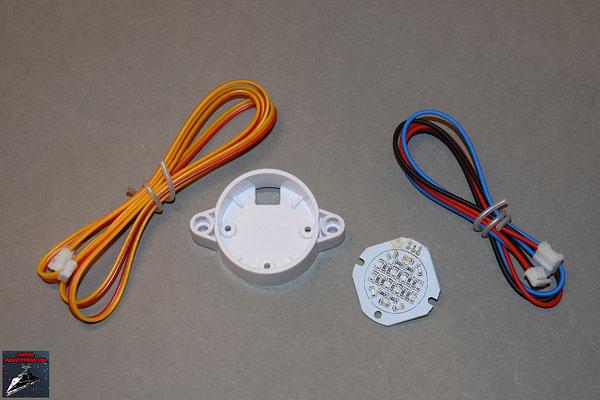 Build your own Ausgabe 45 Sensor-Kabel, LED-Prozessor -Anzeige mit Halterung und Kabel