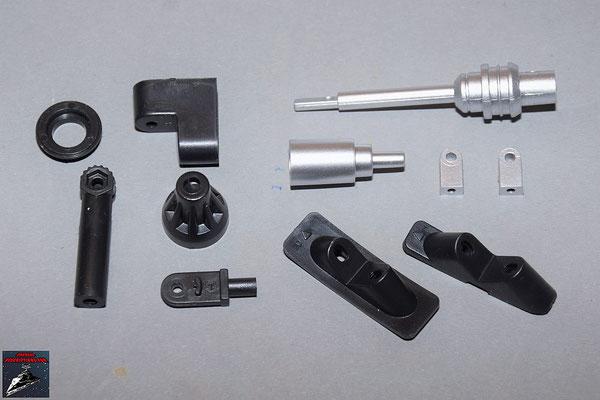 Build your own R2-D2 Ausgabe 86 Verbindungsstücke für die Einzelteile der Rumpfverkleidung und Gelenke für den Wergzeugarm (Kunststoff)