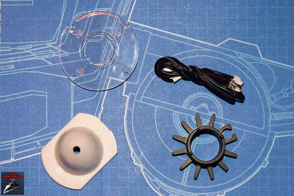 DeAgostini Bau deinen X-Wing Ausgabe 27 Schubdiffusor, Reflektor, Linse (Kunststoff) und LED für den Antrieb