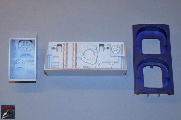 Build your own R2-D2 Ausgabe 82 Rechte Werkzeugkammer, mittlere Werkzeugkammer und Front Grillhalterung (alles Kunststoff)