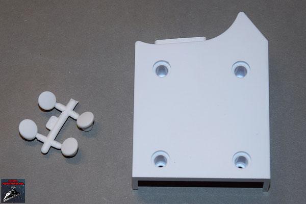 Build your own R2-D2 Ausgabe 47 Linkes Bein hintere Bodenabdeckung (Kunststoff) und Schrauben-Abdeckungen