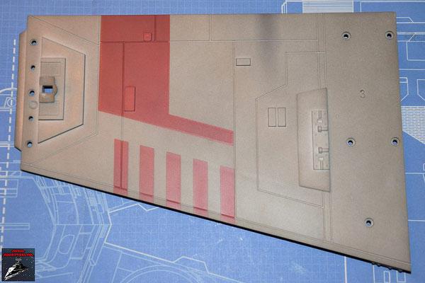 DeAgostini Bau deinen X-Wing Ausgabe 51 Die Details und die Halterung für die Lserkanone werden an dem oberen Backbordflügel befestigt