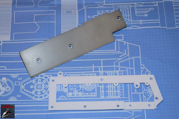 DeAgostini Bau deinen X-Wing Ausgabe 58 Flügelwurzelabdeckung (Kunststoff) und Flügelrahmen innen (Metall)