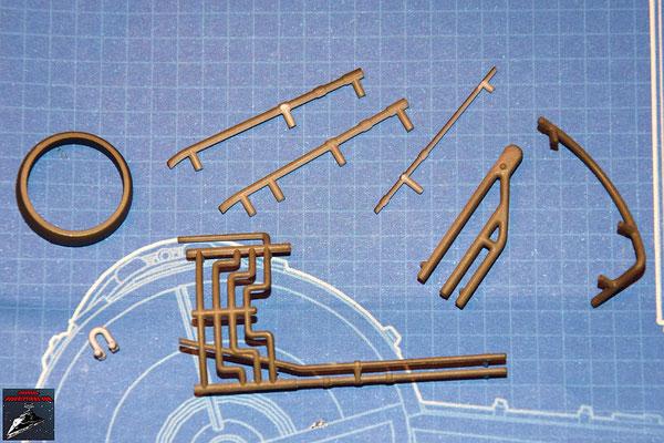 DeAgostini Bau deinen X-Wing Ausgabe 27 Schließring und 7 Anbaudetails (Kunststoff)
