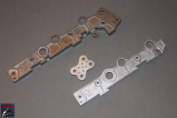 Build your own R2-D2 Rahmenteile für ddas rechte Bein mit Verbindungsstücken (Metall)