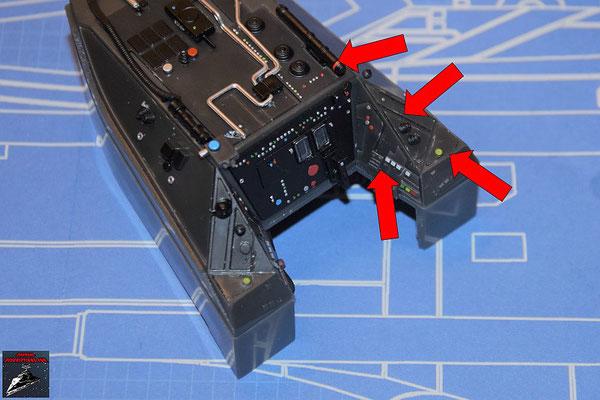 DeAgostini Bau deinen X-Wing Ausgabe 64 Die Details für die Instrumententafeln werden befestigt